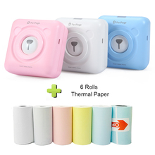 Mini Portable Bluetooth Wireless Paper Photo Printer Pocket Thermal Printing USB Connection