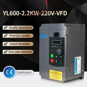 Image 2 - Variateur de fréquence VFD pour moteur triphasé 220 kw, 220V, entrée monophasée, variateur, entrée 220v, sortie 3 phases, vitesse réglable