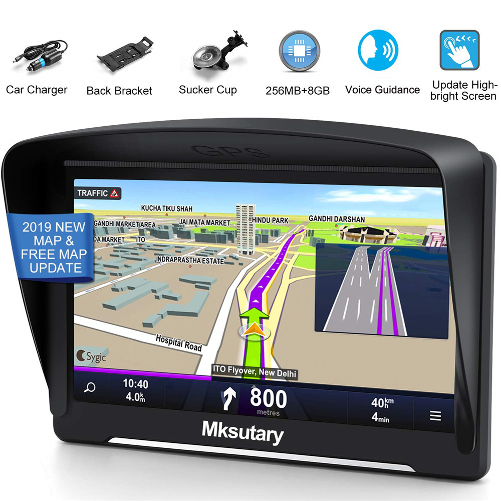 Car Truck Sat Nav T600 7 0 quot LCD HD GPS Navigation Logger Receiver Waterproof GPS Tracker 256M RAM 8GB ROM Free Lifetime Maps POI in Vehicle GPS from Automobiles amp Motorcycles