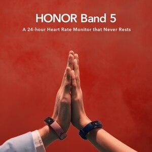 Image 3 - Honor מקורי להקת 5 חכם צמיד הגלובלי גרסה דם חמצן smartwatch AMOLED כושר צמידי לב קצב שינה tracker