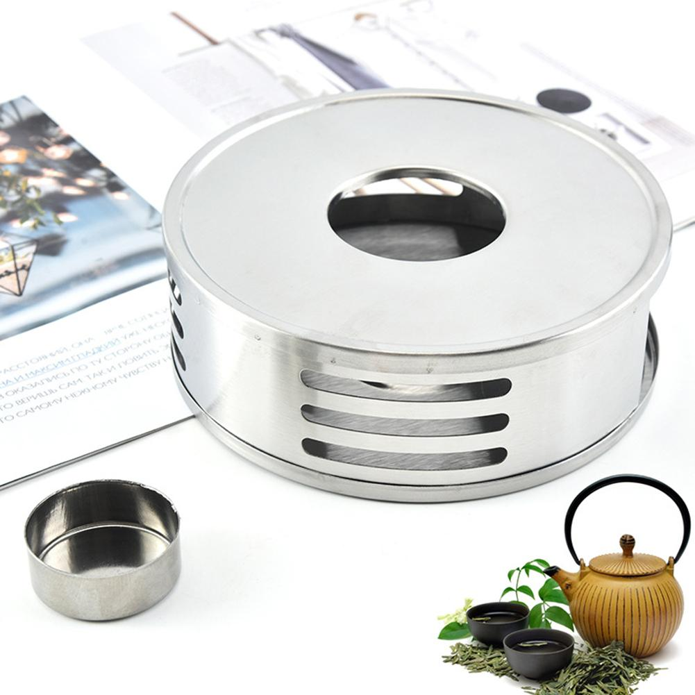 Heating Base Coffee Water Tea Candle Stainless Steel Heat-Resisting Teapot Warmer Insulation Base Candle Holder Tea Accessories