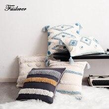FSISLOVER ins чехол для подушки ins Новая модная наволочка с вышивкой высокое качество хлопок скандинавский стиль домашний декор наволочки