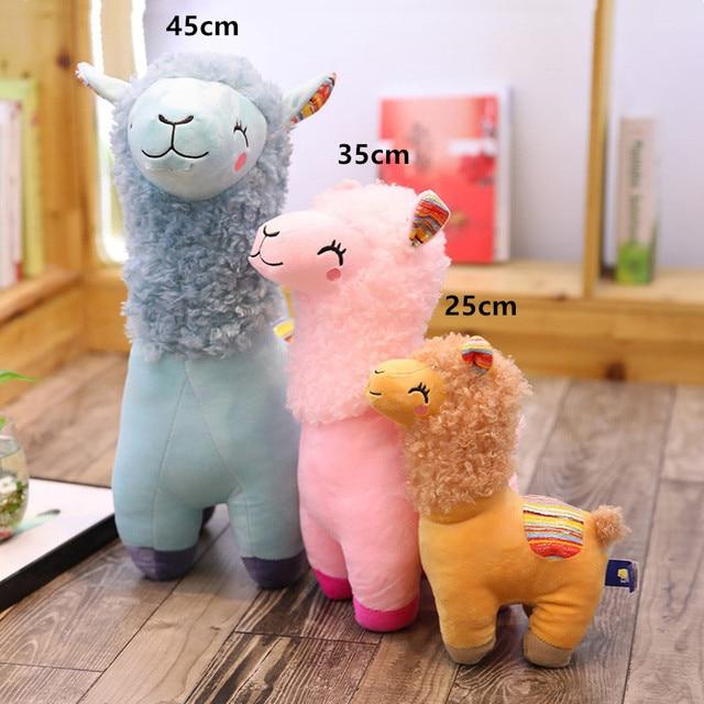 Купить 25 см 45 kawaii альпака лама плюшевые игрушки животные мягкие картинки цена
