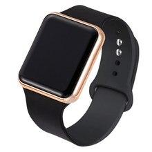 Venda quente minimalista relógio eletrônico crianças meninos meninas led digital esportes relógios de borracha silicone relógio crianças relógio casual presente