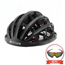 FTIIER Foldable Bicycle Helmet Bike Cycling Ultralight Unisex Helmets Road Man Women Capacete Ciclismo