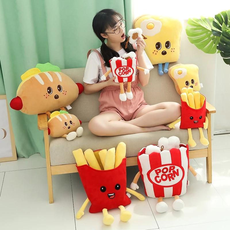 Popcorn Plush Toys Popcorn Plushies Play Food