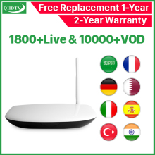Q1304 IPTV Arabic Rk3229 Android 8.1 Tv Box Receiver 4k QHDTV HD Belgium Netherlands France Subscription IP TV