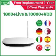 Q1304 IPTV Arabic Rk3229 Android 8.1 Tv Box Receiver 4k QHDTV HD Belgium Netherlands France Subscription IP TV