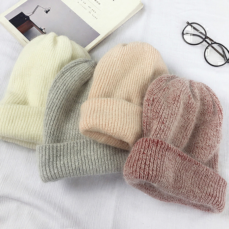 2019 NEW Autumn And Winter New Rabbit Fur Material Bonnet Woman Windproof Warm Wool Hat Outdoor Casual Beanie Hat Man Knit Hat