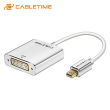 CABLETIME Mini Displayport To DVI Adapter Nam đến Nữ Mới Thunderbolt Mini DP M DVI F dành cho MacBook/ pro/Air C092(China)