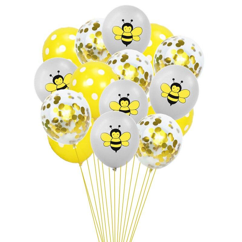 7 шт 12 дюймов мультфильм пчела латексные шары 0-9 Количество фольги воздушный шар набор надувной шар для детского душа детский день рождения партии поставки-5