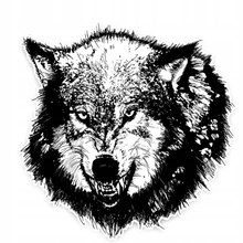 Car Decal Wolf exterior accessories for cars and motorcycles vinyl sticker funny decals