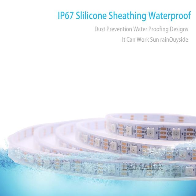 1m/2m/4m/5m DC5V WS2812B WS2812 Led Streifen,30/60/144 pikseli/leds/m schwarz/Weiß PCB Wasserdicht IP30/65/67 IC WS2812 Adressierb