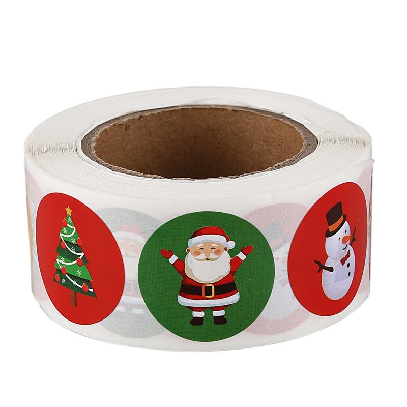 Holiday Stickers 500Pcs Christmas Sticker Santa Claus Deer Decorative Adhesive Reward Sticker School Supplies Stationery Sticker