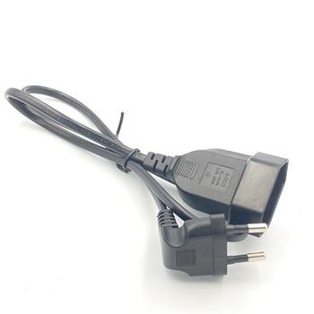 Европейский 90 градусов штекер к гнезду удлинитель питания кабель для ПК компьютера PDU 0,3 м/0,6 м/1,8 м EU 2 зубец изгиб угловой шнур|Адаптеры для розеток|   | АлиЭкспресс