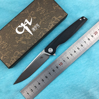 CH CH3007G10 Flipper folding knife D2 steel blade G10 handle camping outdoor kitchen fruit knife EDC tool