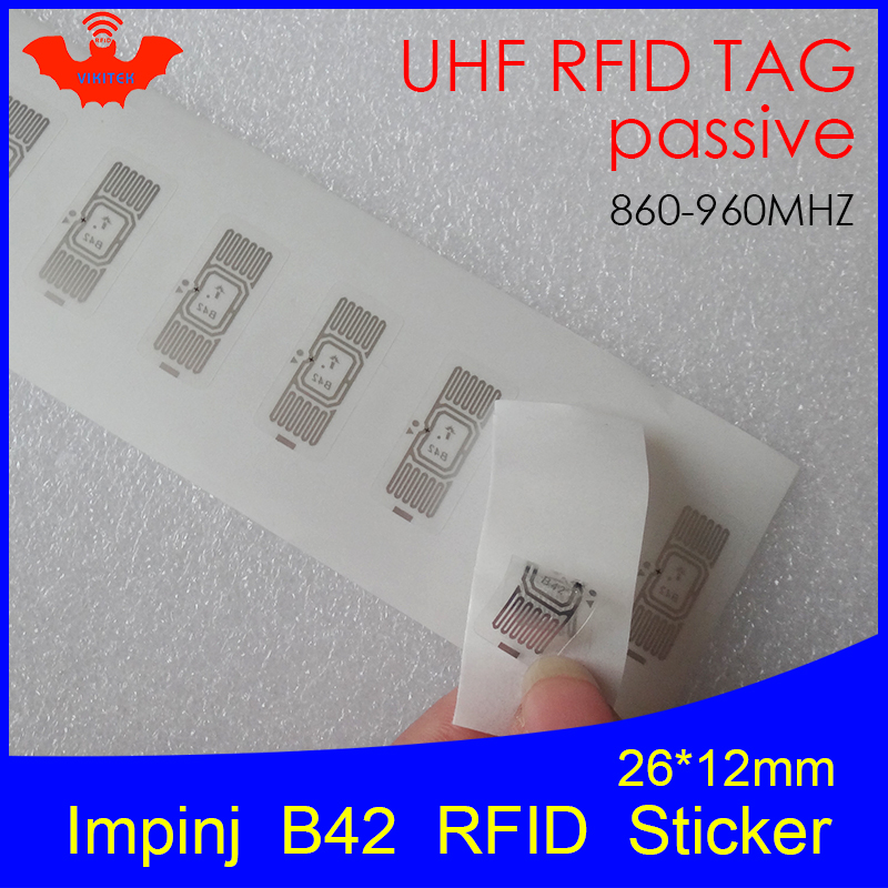 UHF RFID Tag Sticker Impinj B42 Wet Inlay 915mhz 900 868mhz 860-960MHZ Higgs3 EPCC1G2 6C Smart Adhesive Passive RFID Tags Label
