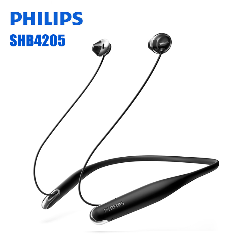 Philips SHB4205 Bluetooth Earphone Support A2DP,AVRCP,HFP,HSP Bluetooth 4.1 USB Cable for Galaxy note 8 Official Certification
