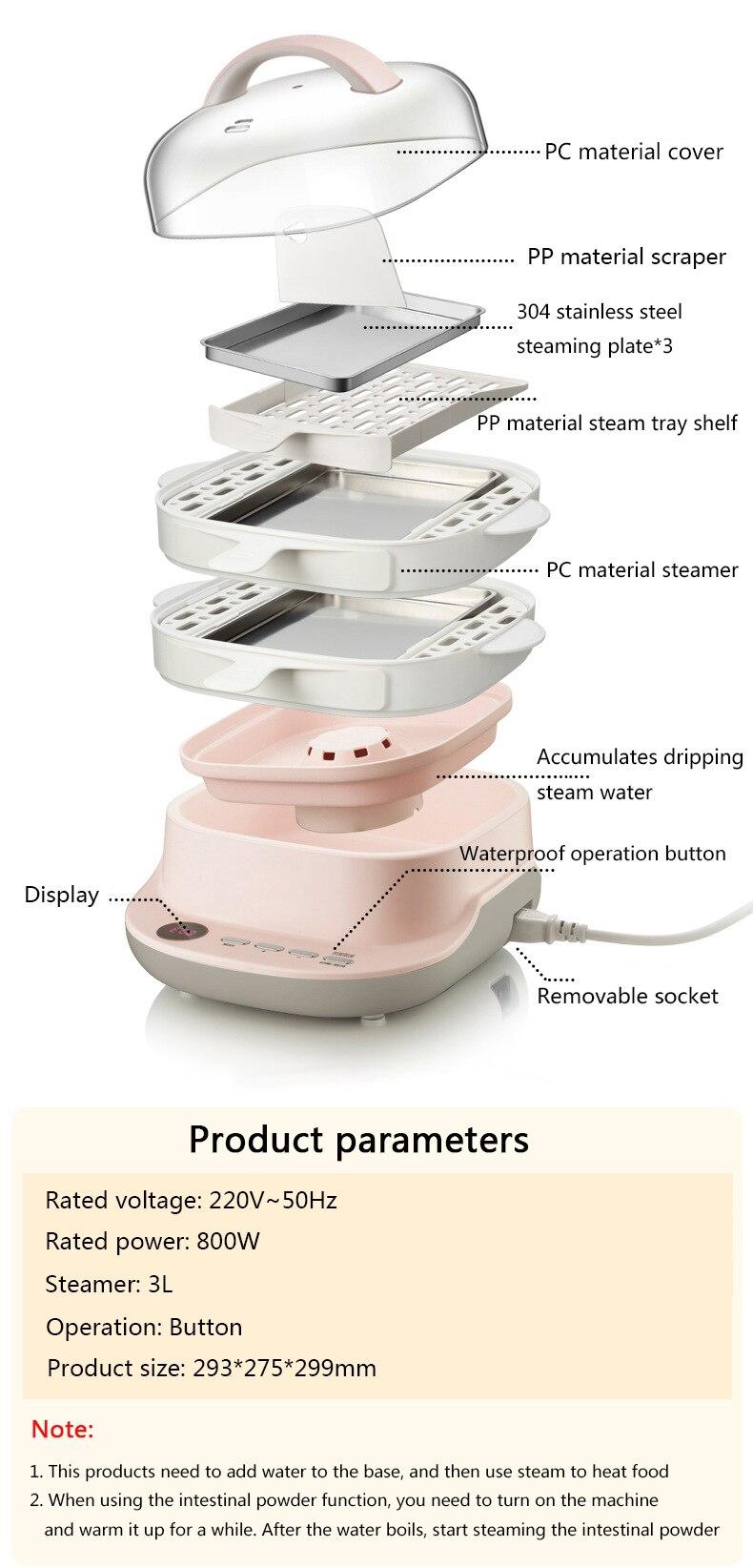 Cukyi mini máquina de pó intestinal doméstico