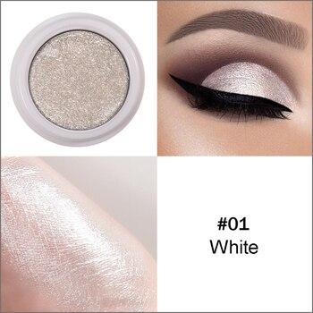 1 Piece Eyes Makeup Glitter & Shimmer Eye Shadow White 3D Face Highlighter Powder Women Professional Make up Cosmetics Eyeshadow