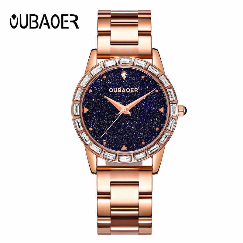 Relojes mujer יוקרה נשים שעונים שמי זרועי הכוכבים נשי שעון קוורץ שעון האופנה ריינסטון גבירותיי שעון יד relogio feminino