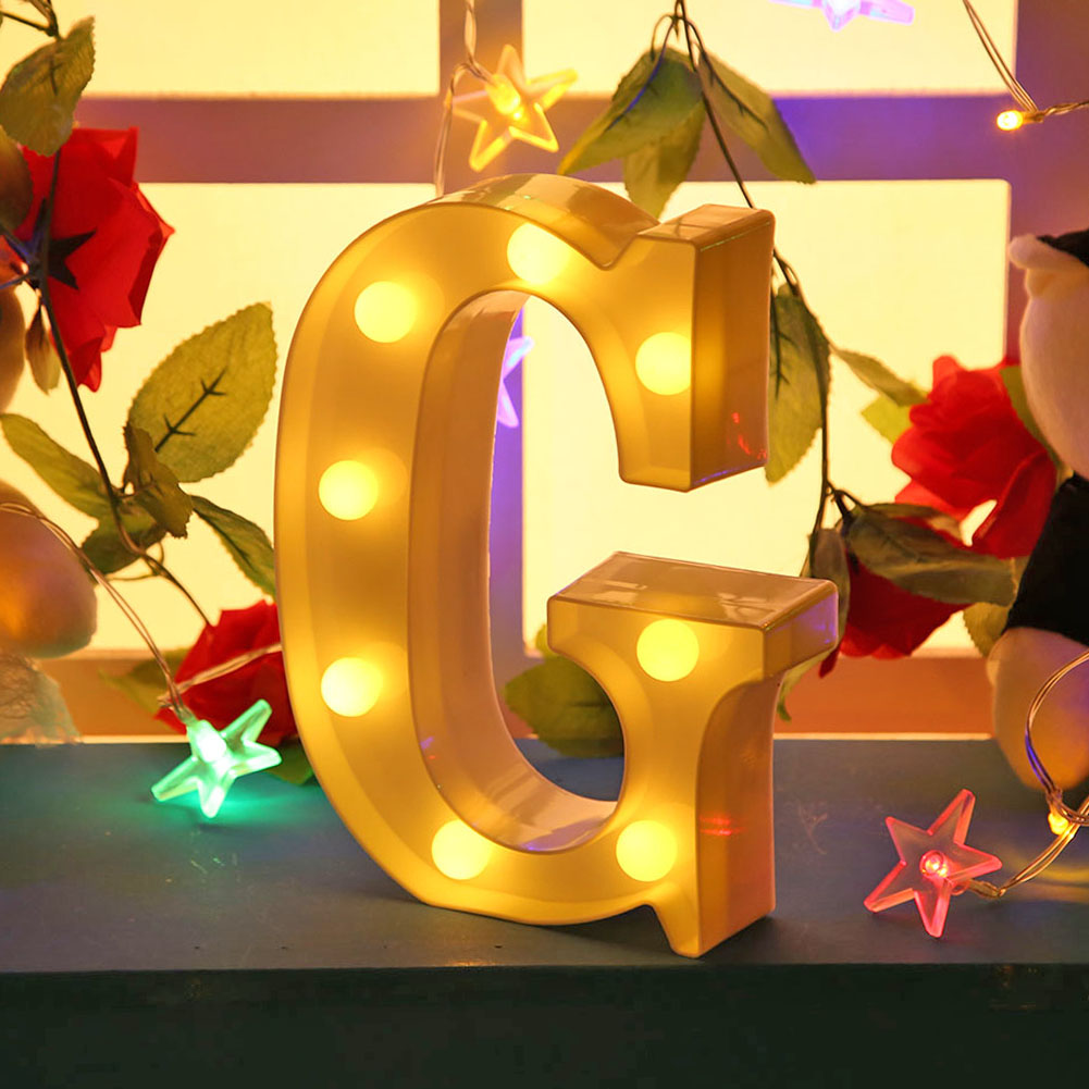 Letter LED Wall Hanging Lamp Smart LED Easy Installation Indoor Party Night Light Alphabet Lamp for Birthday Christmas