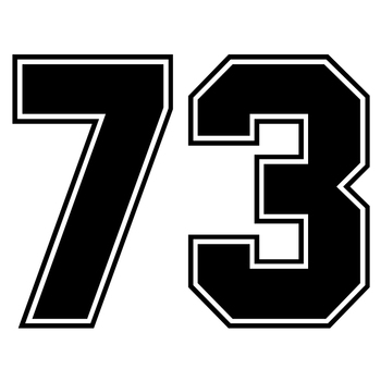 CS-1684#20*15cm number 73 reflective funny car sticker vinyl decal silver/black for auto car stickers styling car decoration sports mind car covers reflective material car stickers decal car styling for peugeot 106 reflective sticker car accessories