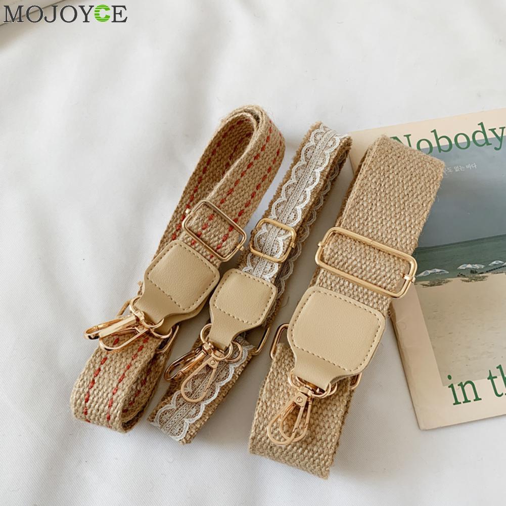 Long Shoulder Bag Strap Cotton Fashion Wide Replacement Strap For Bags Cotton Linen Accessories Bag Straps