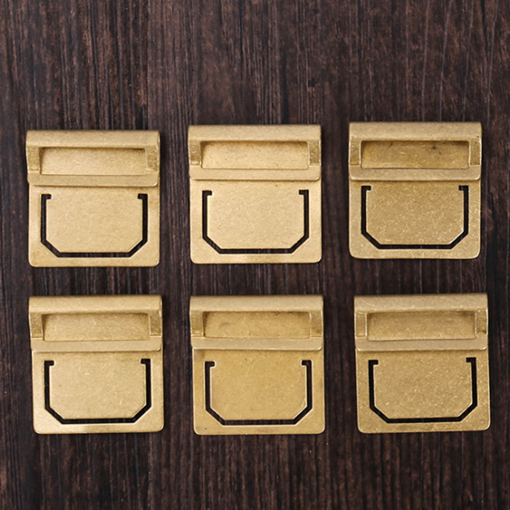 6pcs/set Retro Copper Bookmark Metal Brass Index Clamp Label Clip Stationery Gift Paper Clips Memo Clips