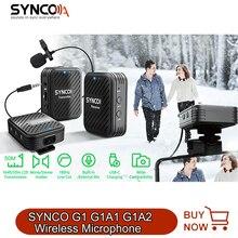 SYNCO-Sistema de micrófono inalámbrico Lavalier, G1, G1A1, G1A2, para Smartphone, portátil, tableta, DSLR, grabadora de vídeo