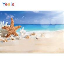 Yeele beira-mar praia estrela do mar concha fotochamada foto backdrops retrato do bebê personalizado fotografia fundos para estúdio de fotos