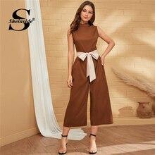 Outono Zip Jumpsuit Sheinside