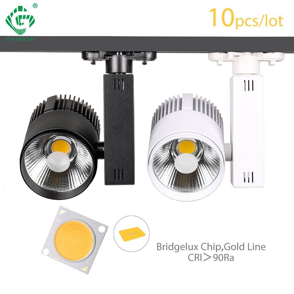 Oświetlenie drogi szyny reflektor 30W COB odzież buty sklep lampki ozdobne reflektory led 2/3/4 drutu 3 fazy reflektor 10 sztuk/partia