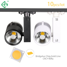 Fast free shipping(10pcs/lot),LED Track Light 30W COB Bridgelux Chip From USA,Equal to 250w Halogen Lamp,Rail Light Spotlight купить недорого в Москве