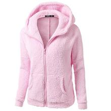 цены Autumn Winter Women Hoodies Fleece Hooded Long Sleeve Zipper Thicken Coat Outwear Sudaderas Jacket Sweatshirts Oversized 5XL