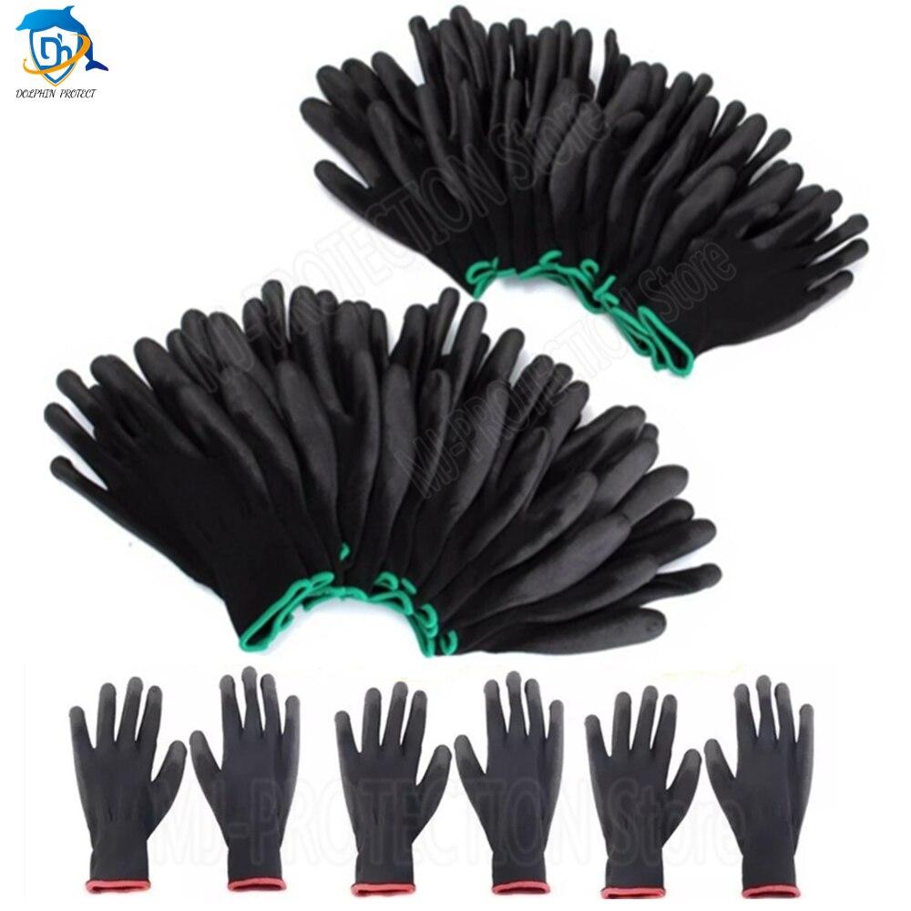 6-36pu пары детских хлопковых утепленных колготок на нитриловые рабочие Перчатки из искусственной полиуретановой Перчатки и Упор для рук с по...