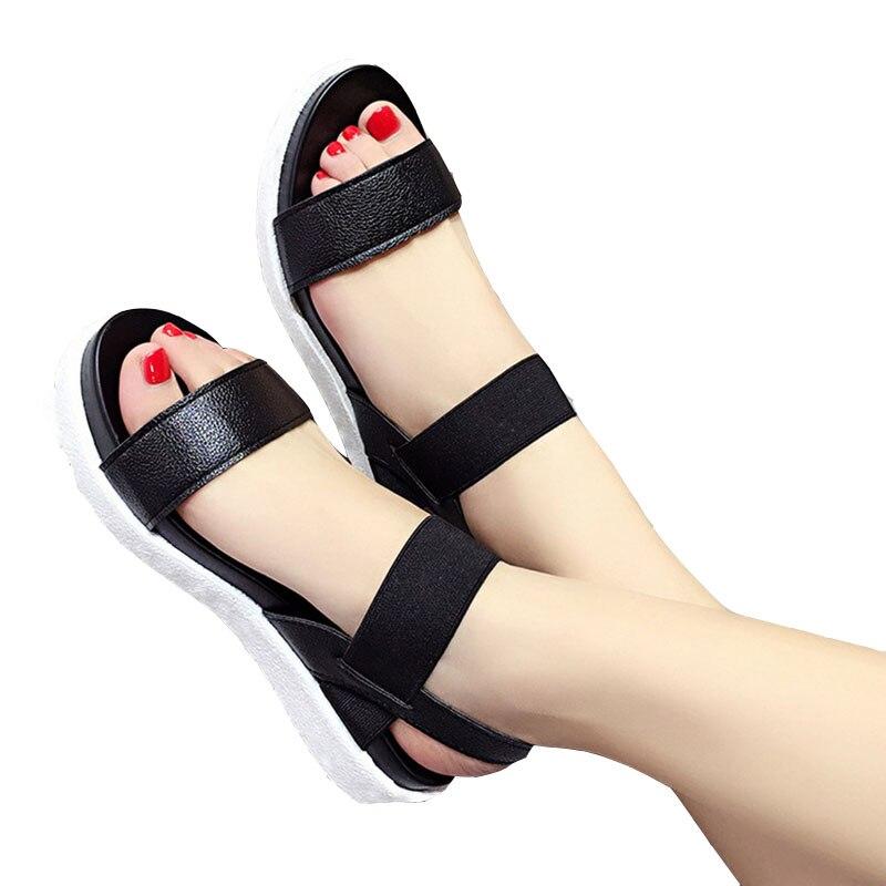 Free Shipping 2019 Summer Leopard Grain Sandals Women Sandals Shoes Woman Peep-toe Flat Shoes Roman Sandals Women Sandals