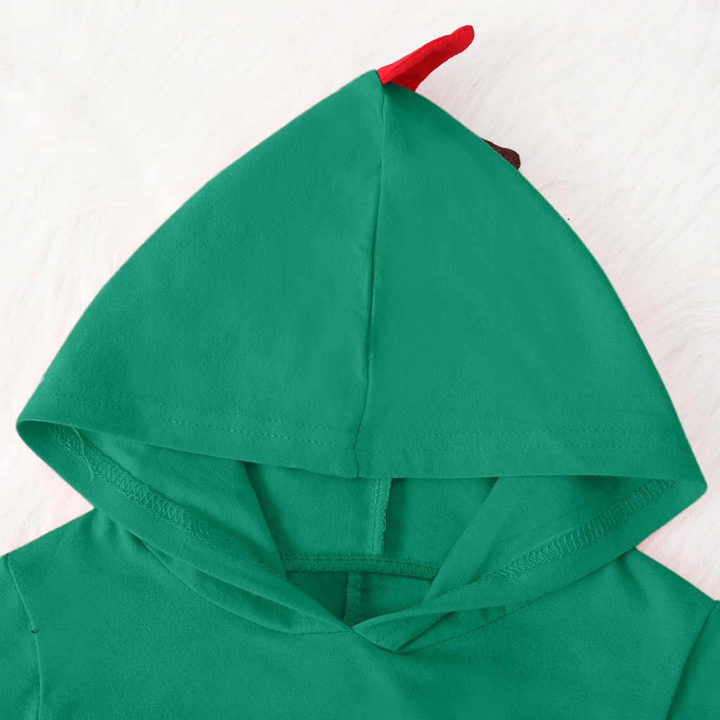 Yenidoğan bebek erkek bebek kız dinozor tarzı Patchwork Romper tulum Playsiut bebek kış giysileri bebek noel kıyafetler 2020