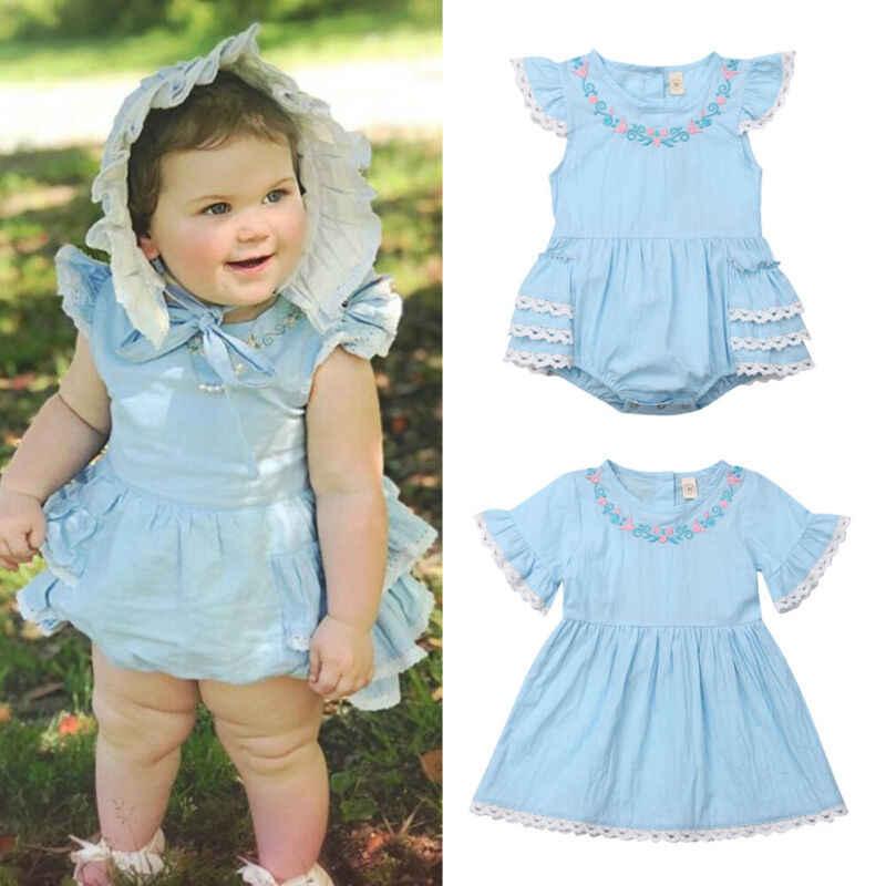 Pequena irmã grande combinando roupas criança, crianças menina recém-nascido bebê floral laço manga macacão vestido roupas de verão