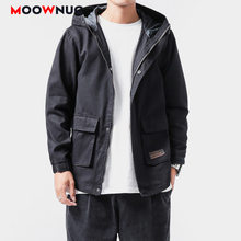 Jackets Kpop Fashion Hombre Coats Outerwear New Loose Hip Hop Solid Hat Men's Clothes Spring Dress Boys Casual MOOWNUC MWC