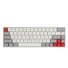 Epomaker gk68xs 68 teclas de troca quente rgb bluetooth5.1 teclado mecânico sem fio/com fio bateria 1900mah, corante-subbed pbt gsa keycaps
