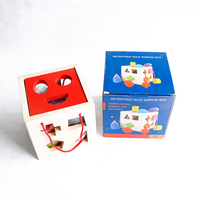 17 Holes Intelligence Baby Blocks Match Shape Learning Educational Toys Bricks Wooden Shape Sorter Cube Building Blocks