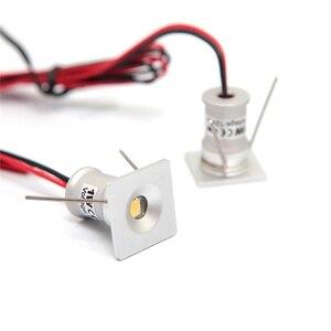 Image 4 - 9 Stks/partij DC12V 1W Mini Led Downlight Bridgelux Chip Waterdichte IP65 Led Spot Licht Led Kast Licht Nieuwe Ontwerp