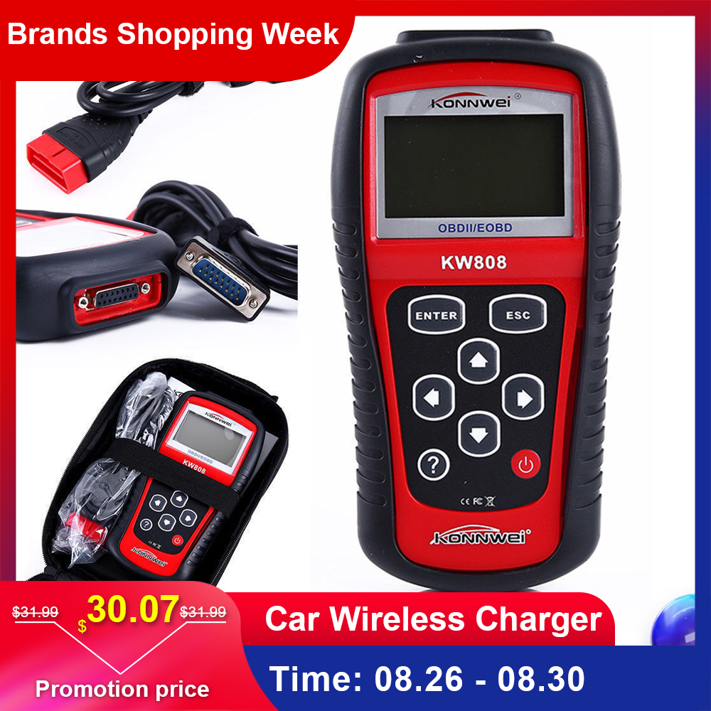 BIG OFFER) KW808 Factory Price OBDII/EOBD CAN Scanner Tool