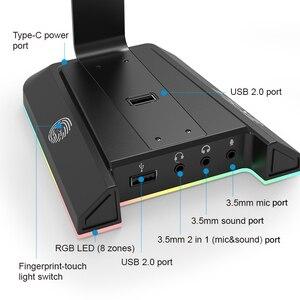 Image 4 - EKSA W1 7.1ชุดหูฟังสำหรับเล่นเกมพร้อม USB/3.5มม.RGB หูฟังสำหรับ Gamer Gaming PC อุปกรณ์เสริมโต๊ะ