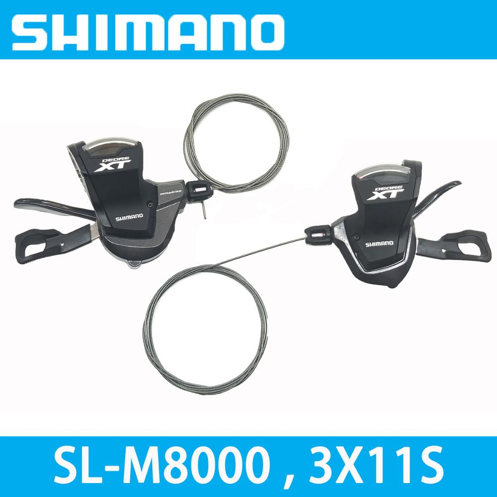 SHIMANO DEORE XT SL M8000 3X11 2X11 speed 33S/22S RAPIDFIRE PLUS Left Shift Lever Control MTB Mountain bike bicycle accessories