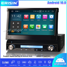 Erisin 1 Din Staccabile Android 10.0 Car Stereo Lettore DVD Autoradio GPS DAB + OBD Wifi CarPlay Bluetooth DTV DVR