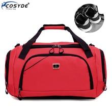 Waterproof Sport Training Gym Bag Fashion Big Women Fitness Bag For Shoe Travel Yoga Handbag Men Outdoor Sporting Tote For Male