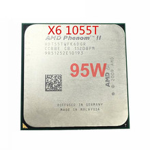 Free Shipping AMD Phenom II X6 1055T 95W CPU processor 2.8GHz AM3 938 Processor Six Core 6M HDT55TWFK6DGR scrattered piece
