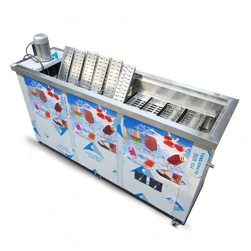 Commercial 10 Moulds Popsicle Lolly Making Machine Large Production CE Certification Hard Ice Cream Stainless Steel Molds Price